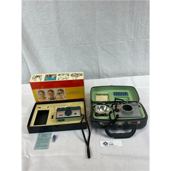 2 Vintage Cameras, 1 In Box, 1 In Case