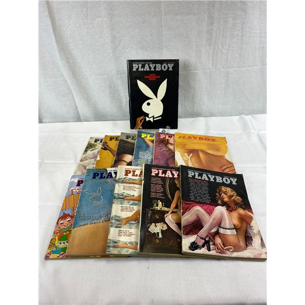 12 Copies Of 1974 Playboy Magazines