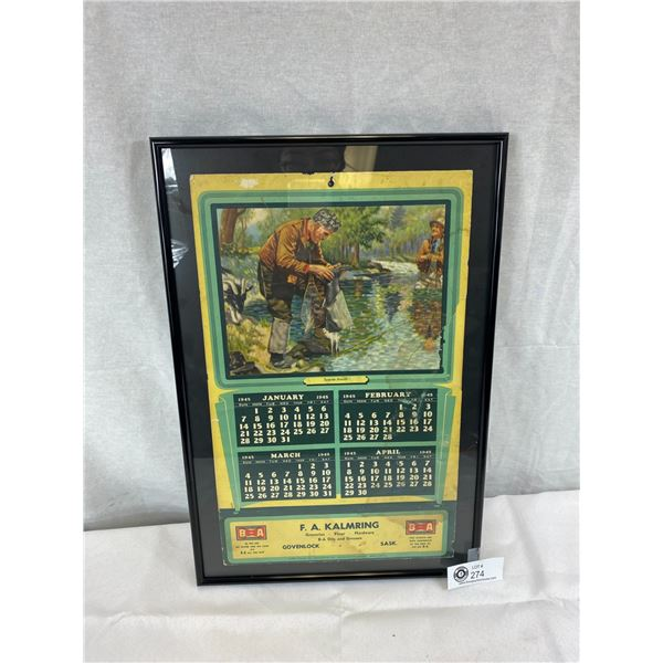 1945 B/A 'Surprise Attack' Ashton Potter LTD. Calendar, Some Condition Issues, But Displays Very Nic