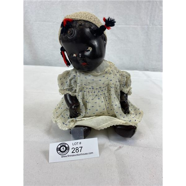 """1940'S Black Composition Doll, Made In Canada By Reliable, 7.5""""T, Black Americana"""