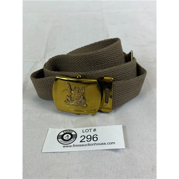 South African Police Belt And Buckle
