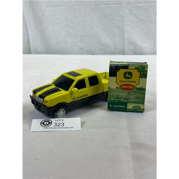 John Deere Die Cast Plastic Truck And Playing Cards