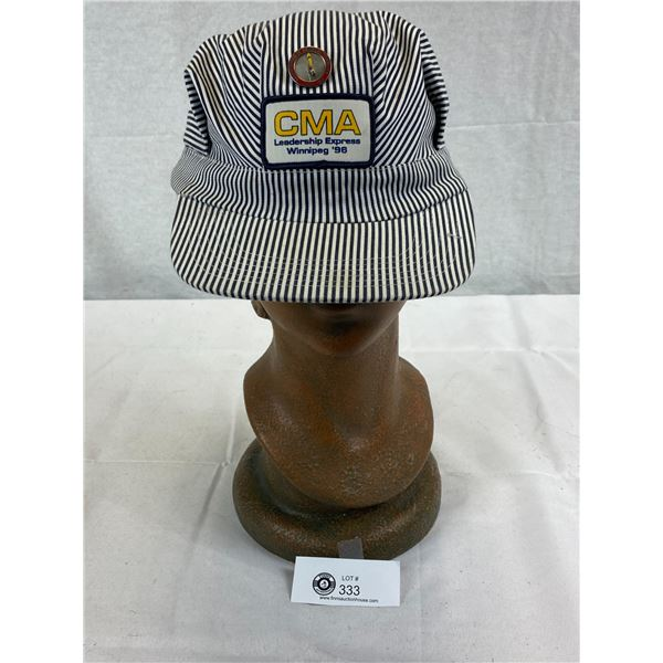 Vintage CMA Railroad Hat With Pin
