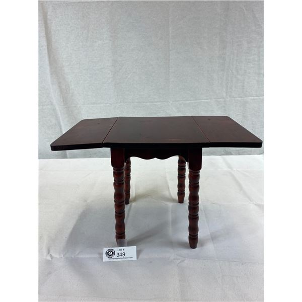 Very Charming Hand Made Salesman Sample Of Miniature Wooden Dropleaf Table From The 1930's, This Is