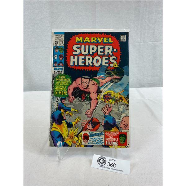 Marvel Comics Marvel Superheroes #25 On Board In Plastic