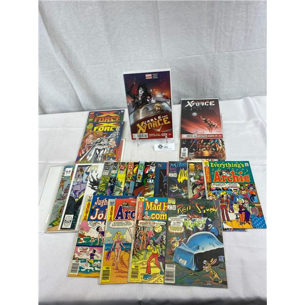 Nice Lot Of 25 Various Comics, Some In Bag, Some Not, Nice Lot