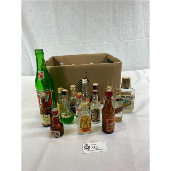 Nice Lot Of Empty Miniature Liquor Bottles And Pop Bottles