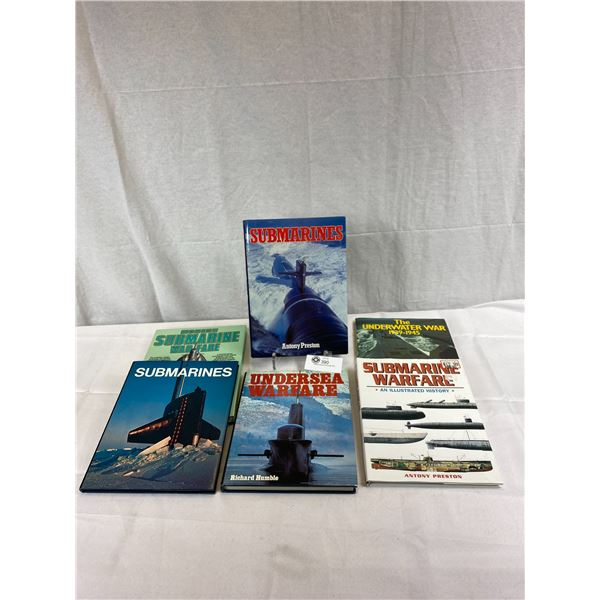 6 Hardcover Books On Submarines In Great Shape