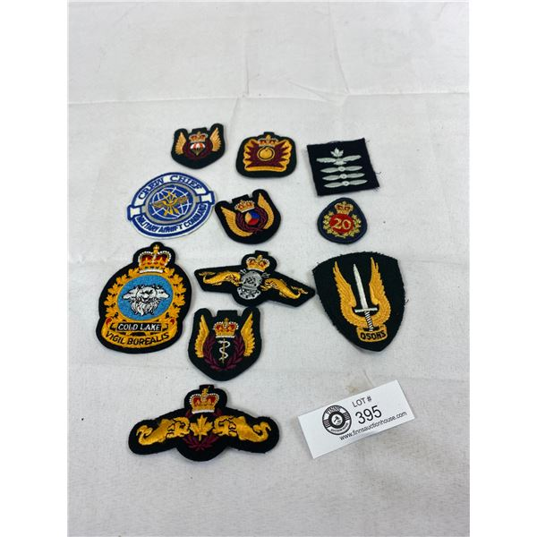 Nice Lot Of Military RCMP Cloth Patches, Etc.