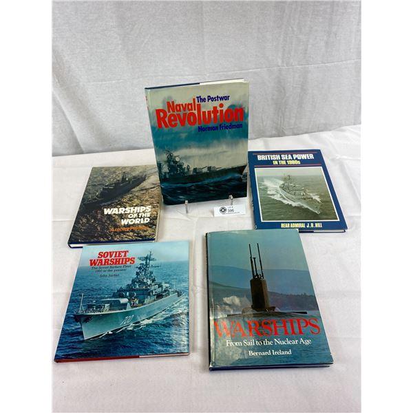 Nice Lot Of 5 Hardcover Military Battleship Books