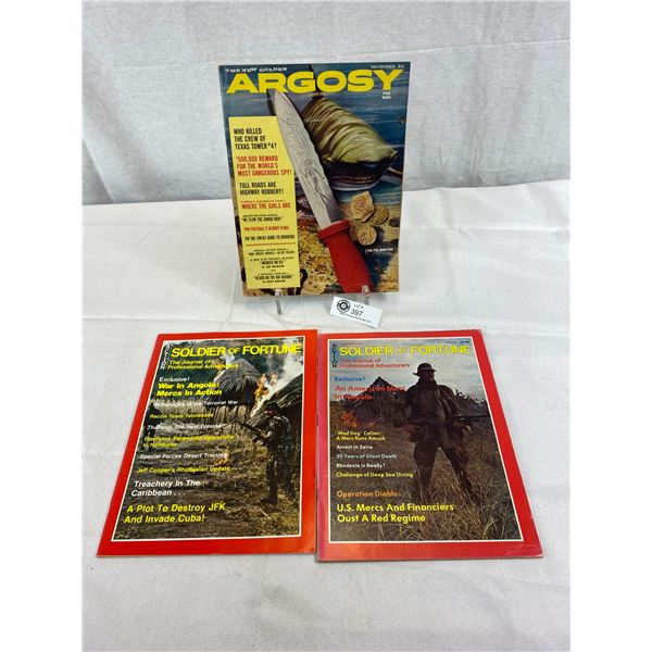 3 Hunting And Soldier Magazines