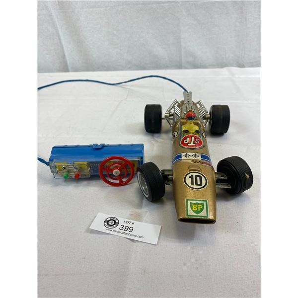 Nice Bandai Made In Japan Race Car With Hand Control