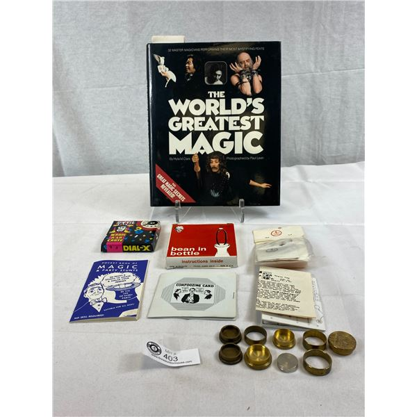 Nice Vintage Magic Lot From 1950-1970's, 1 Book, 1 Booklet Plus 5 Tricks