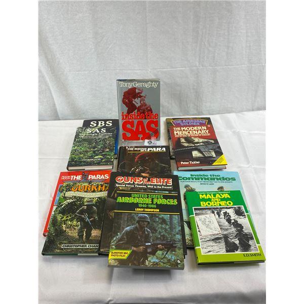 12 Hardcover Books/Novels On Military