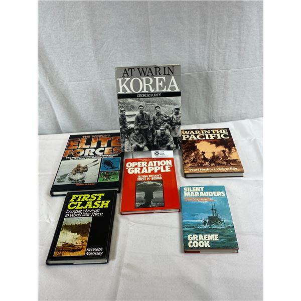 6 Hardcover Books/Novels On Military Wars