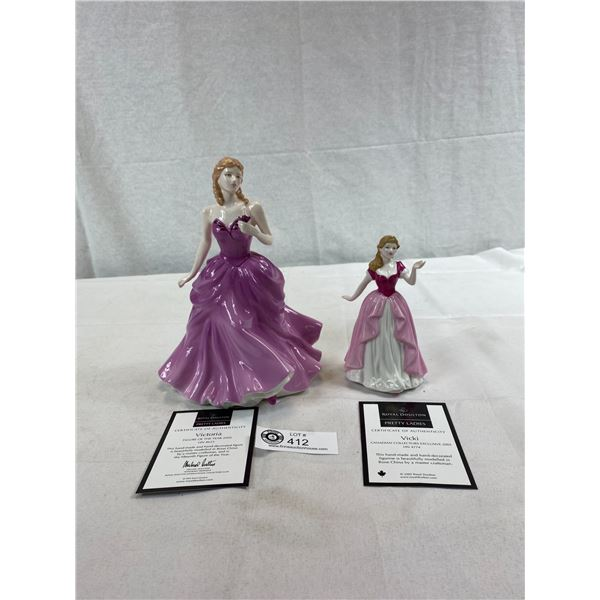 Very Nice Royal Doulton Figurine Pretty Ladies In Box