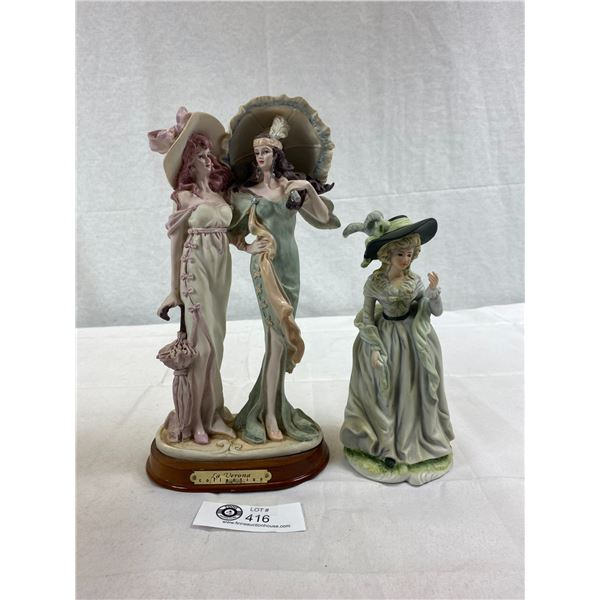 "2 Nice Statues Of Ladies, Tallest One 13""T"