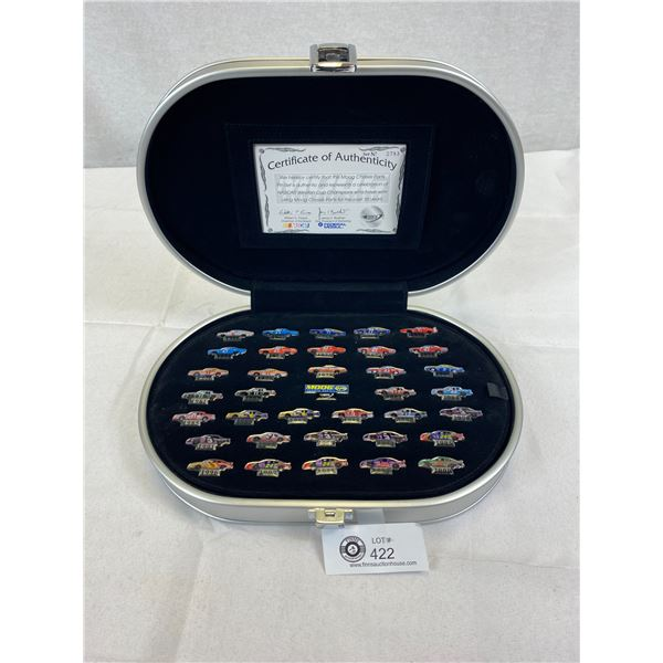 Very Nice Nascar Pin Set With COA In Display Case