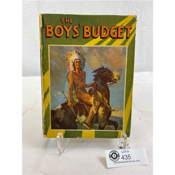 1937 Hardcover Book, The Boys Budget