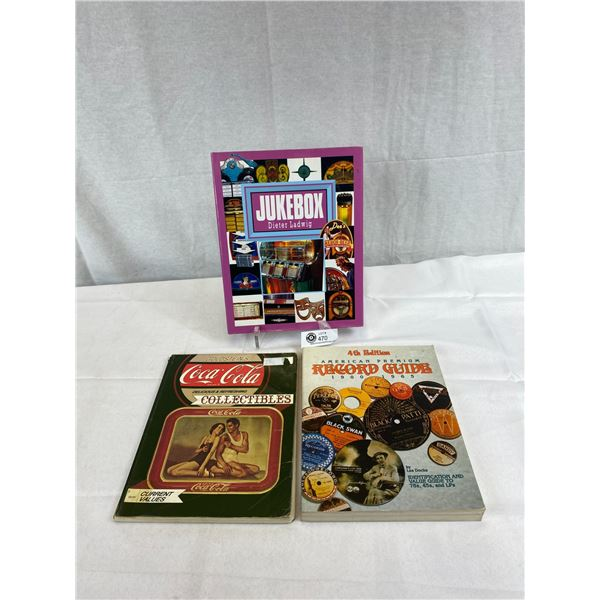 3 Books On Collectibles, Coca-Cola, Records And Jukeboxes