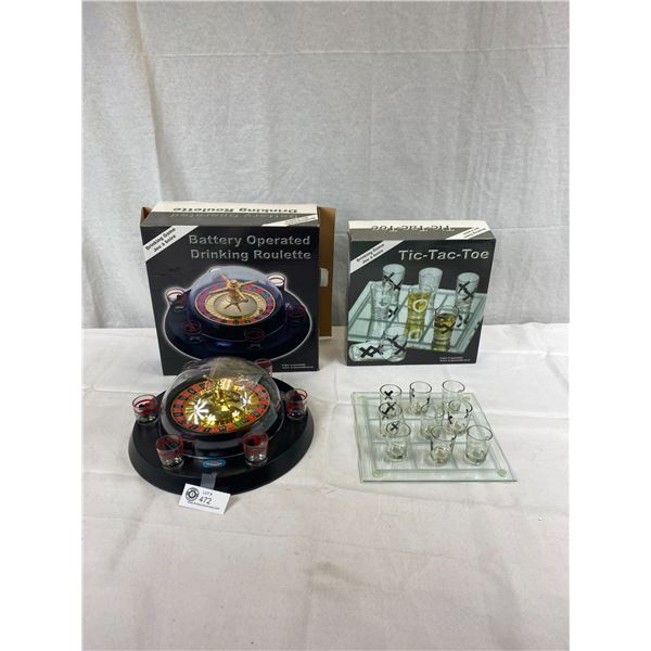 Tic Tac Toe And Roulette Drinking Games Sets
