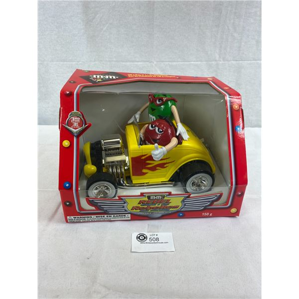 M&M Rebel Without A Clue Plastic Die Cast Car Still In Original Box, Candy Dispenser