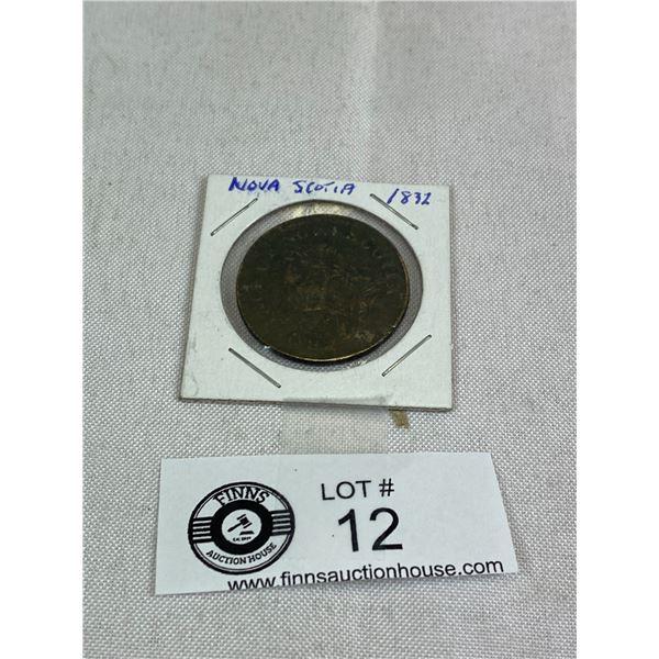 1832 Nova scotia Large Penny
