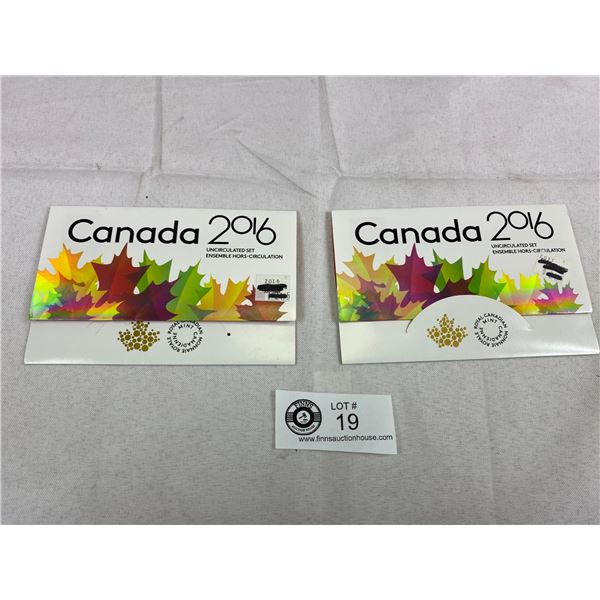 2 2016 Canadian Proof Sets In Holders