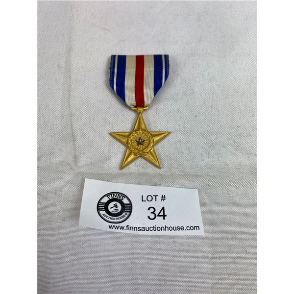 Genuine US Silver Star Medal Full Size