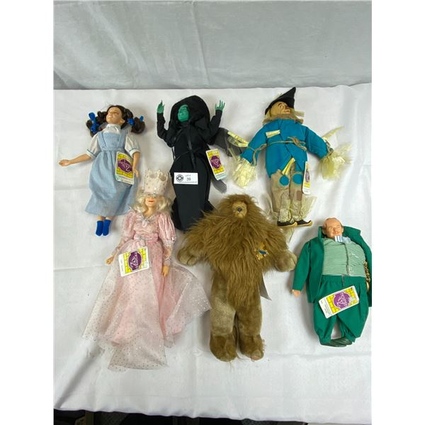 Wonderful Collection Of Wizard Of Oz Dolls From The 80's, 6 In Total, Like New With Tags