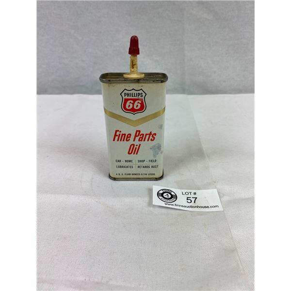 Vintage Phillips 66 Fine Parts Oil 4oz Tin, Empty
