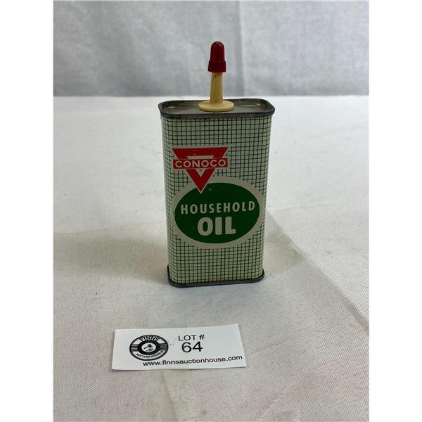 Vintage Conoco Household Oil 4oz Tin, Empty