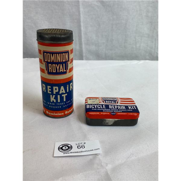 Dominion Royal Repair Kit With Contents And Dominion Royal Bicycle Repair Kit With Contents, Has Woo