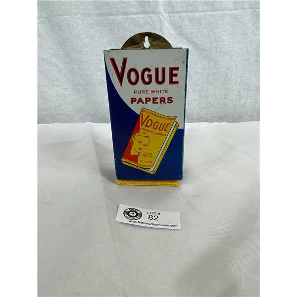 Original Vintage Vogue Cigarette Paper Tin Advertising Dispenser With Couple Of Matching Cigarette P