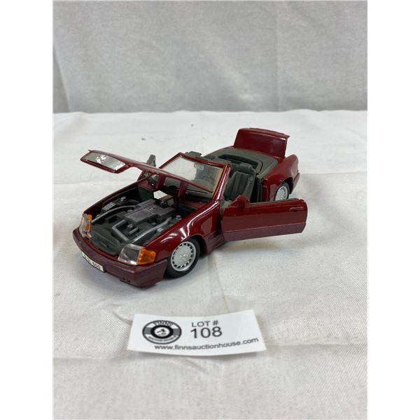 1989 Mercedes Benz 500SL 1:24 Scale Diecast Car