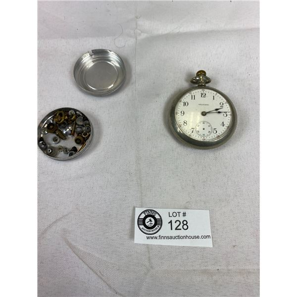 1940's Waltham Pocket Watch & Crown Watch Parts