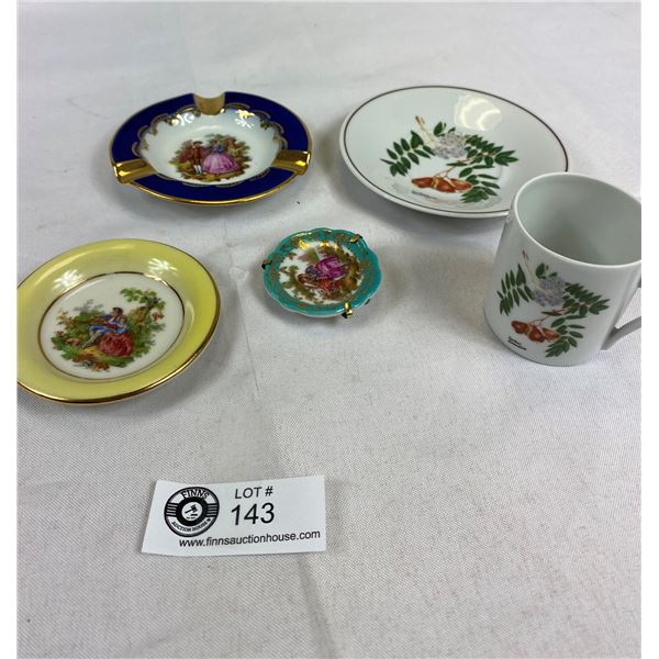 Vintage Limoges France Small Trays & Demi Cup & Saucer