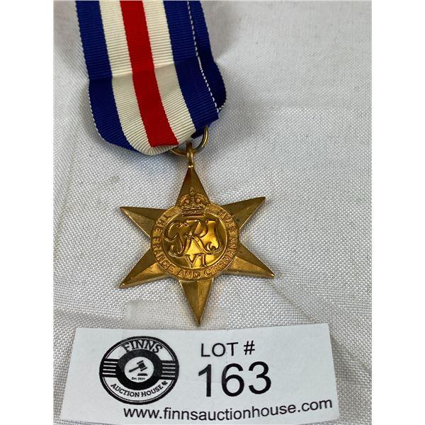WW2 France & Germany Star Medal W/ Ribbon