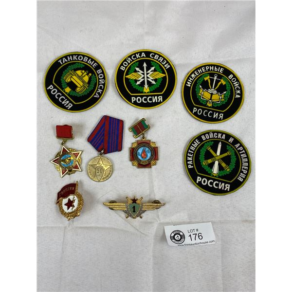 A Lot of Russian Patches and Badges