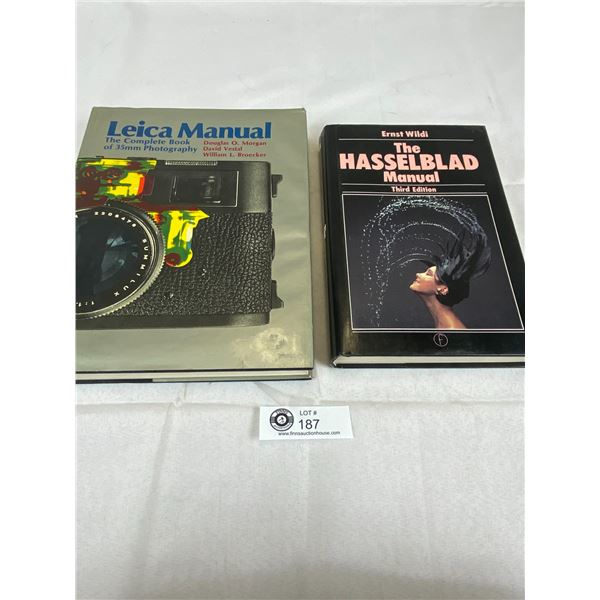 Leice and Hasselblad Hard Cover Camera Books