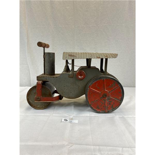 A Vintage 1920's Keystone Ride Em Steam Roller 60 Pressed Steel Toy Construction