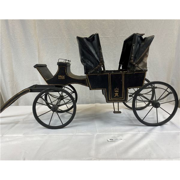 Great Double Buggy (Horse Drawn Carriage) For Those Special Antique Dolls 46''x20''x14'' Very Nice