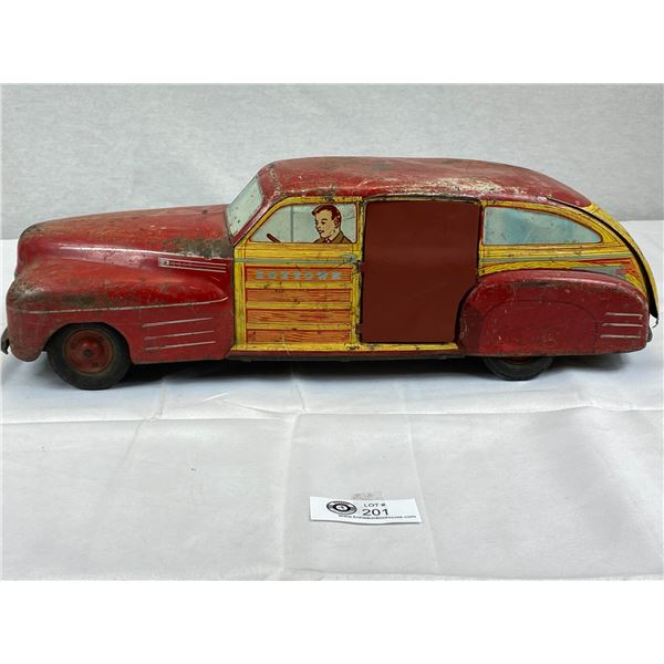 A Very Large 21'' Long 1940's Wyandotte Woody's Station Wagon New Back Doors