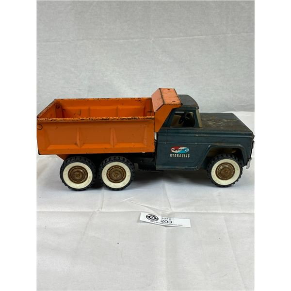 A Vintage Structo Hydraulics Dump Truck Hydraulic Works - Good Condition