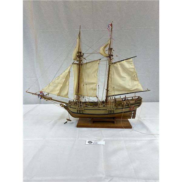 A 23''x20'' Wooden Sailboat (The Halifax) On Stand
