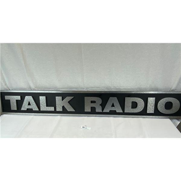 A Custom Made 60''x8'' Talk Radio 3 Dimensional Sign