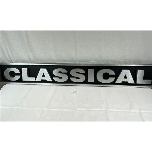 A Custom Made 60''x8'' Classical 3 Dimensional Sign