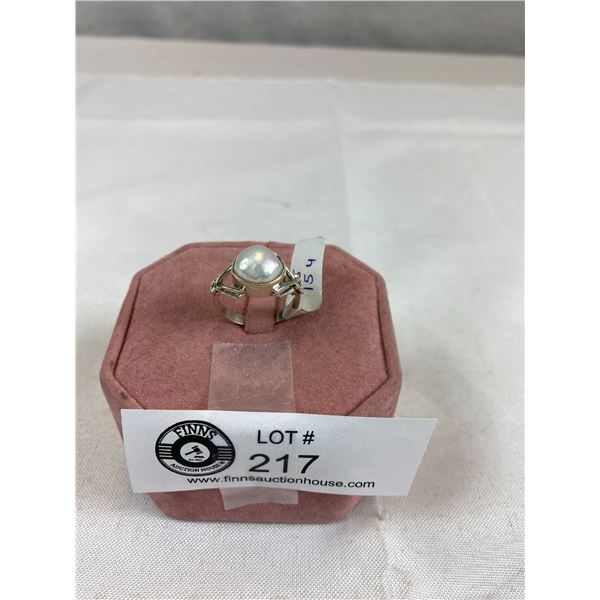 New Marked and Tested 925 Biwa Pearl Ring Size 8.5 Nice Quality