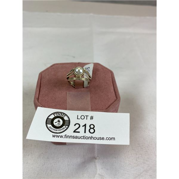 New Marked and Tested 925  Pearl Ring Size 7.5