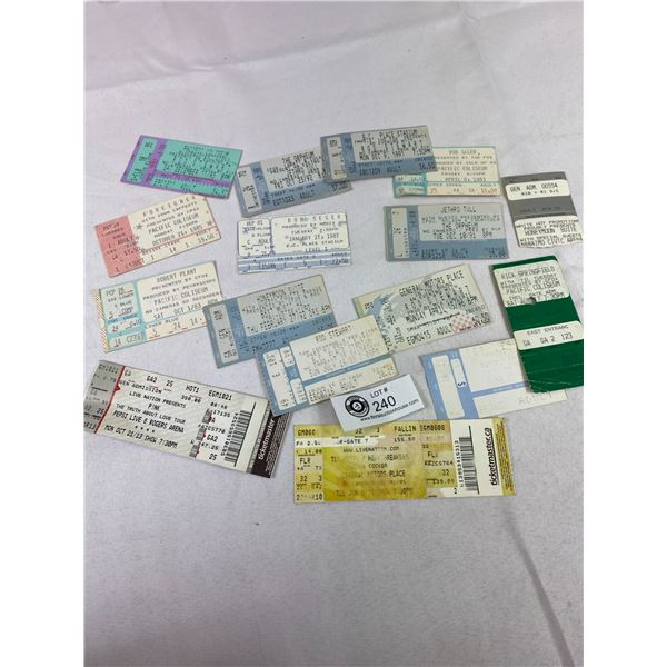 Vintage Rock and Roll Concert Music Tickets